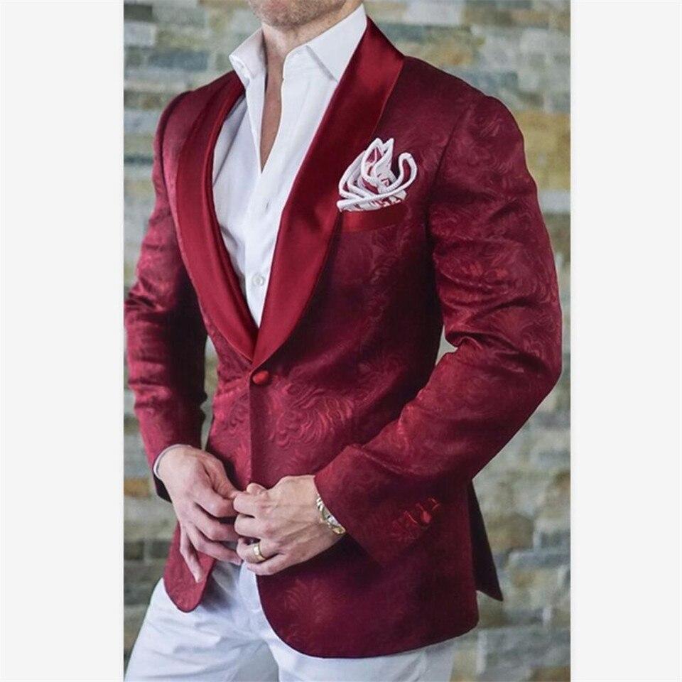 New Men's Suit Smolking Noivo Terno Slim Fit Easculino Evening Suits For Men Tuxedos Blue Paisley Shawl Lapel Blazer Best Man Su