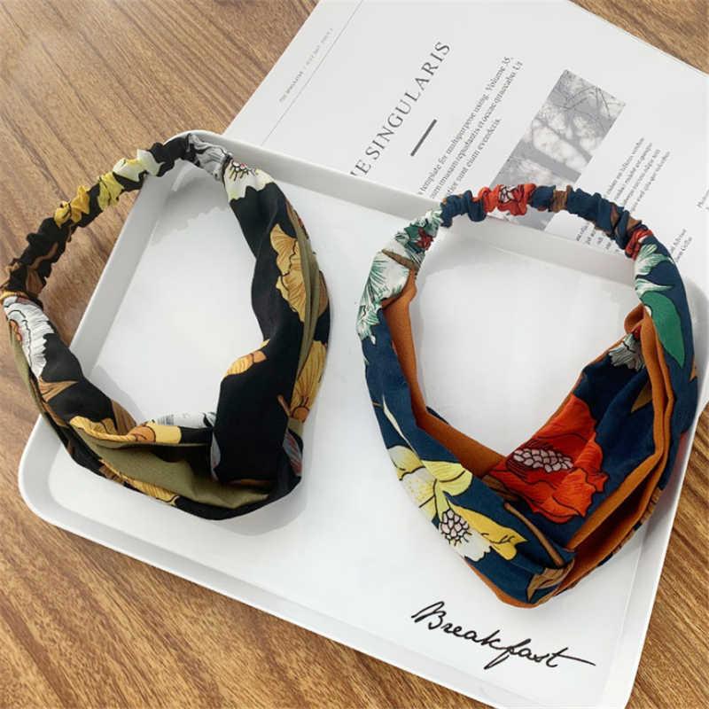 แฟชั่น Lady Knotted ลายสำหรับผู้หญิงผมวง Headdress Turband ยืดหยุ่นหัวห่อ hiar อุปกรณ์เสริมขายส่ง