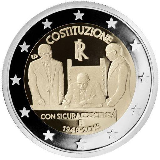 Памятная монета 2018 г. В честь 200й годовщины введения в Италию, 2 евро