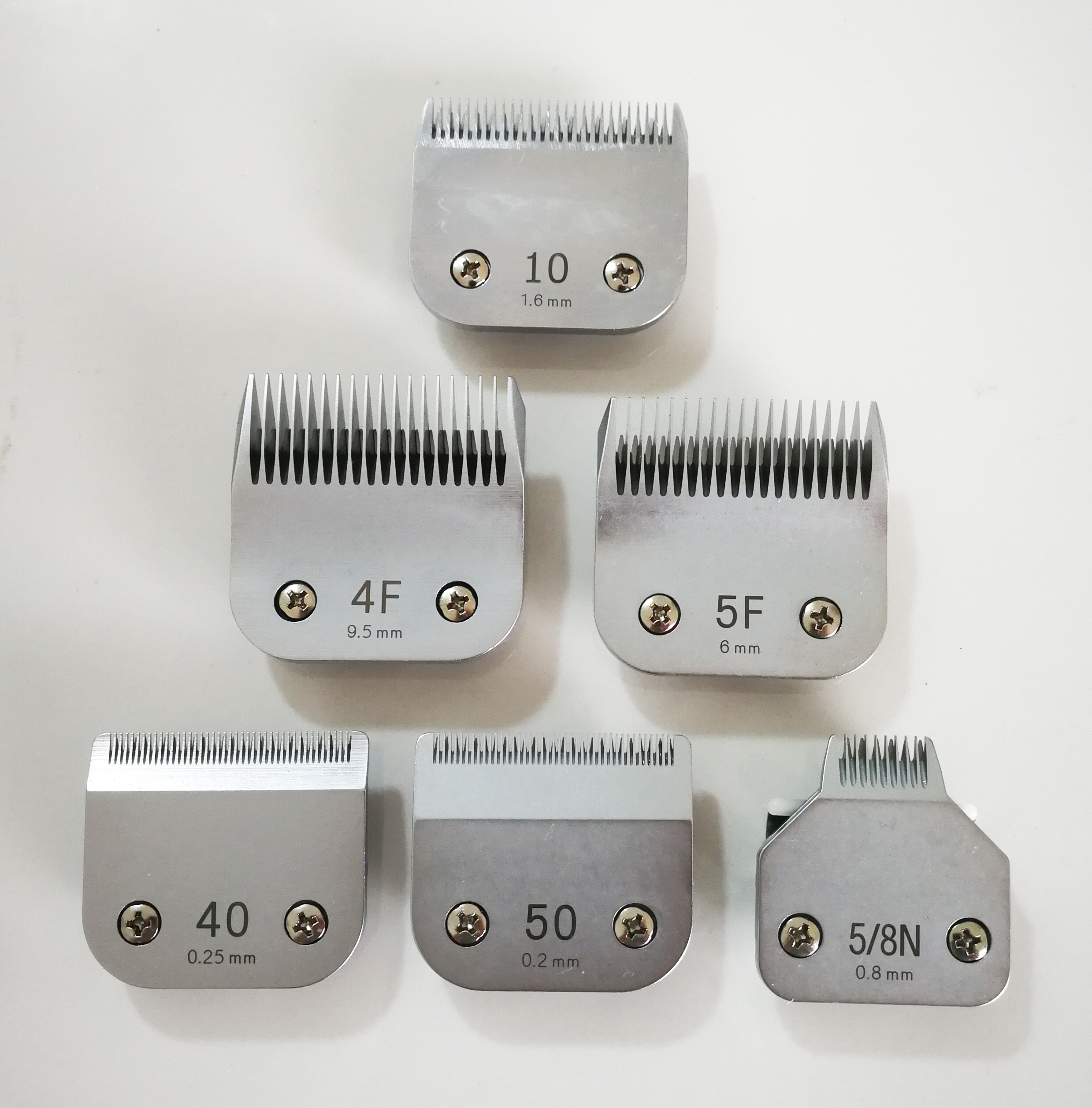 all sizes A5 blade for dog grooming clipper made in taiwan steel or ceramic.