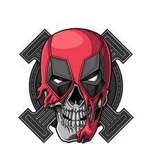 Funny 13cmx13cm for Deadpool Skull Vinyl Creative Stickers Windows Bumper Decals JDM DRIFT Racing