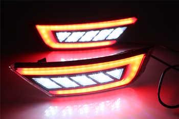 2PCS LED For Ford Ecosport 2013 2014 2015 2016 2017 2018 2019 LED Rear Bumper Light Fog Lamp Brake Warning Light Reflector Lamp