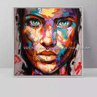Handmade Francoise Nielly Marilyn Monroe portrait canvas painting Palette knife Face Oil painting wall picture for living room