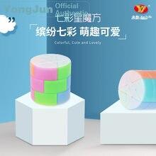 Yongjun красочный Звездный цилиндр магический куб yj профессиональная