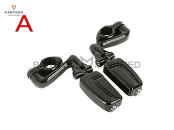"Universal 32mm 1 1/4"" Motorcycle Engine Guard Mount Kit Foot Peg Foot Rest case for Harley Honda Kawasaki Yamaha Suzuki"