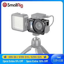 Gaiola de smallrig vlog para dji osmo ação (compatível com adaptador de microfone) compatível com o cynova dupla 3.5mm USB C adaptador 2475