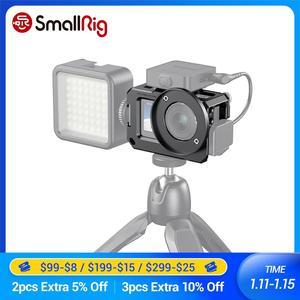 Image 1 - Gaiola de smallrig vlog para dji osmo ação (compatível com adaptador de microfone) compatível com o cynova dupla 3.5mm USB C adaptador 2475