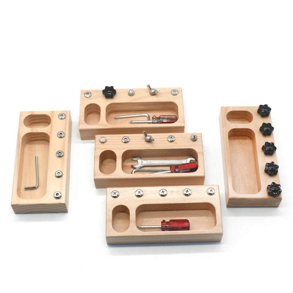 Набор винтовых досок Монтессори, практичные инструменты для жизни, обучающая игрушка для малышей, игрушки Монтессори D1564H