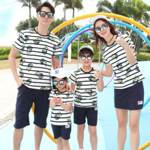 Family Matching Clothes 2020 Summer Boys Man Top Tee Shirt Mommy and Me Clothes Mother Son Outfits Mum Mom Daughter Dress(China)