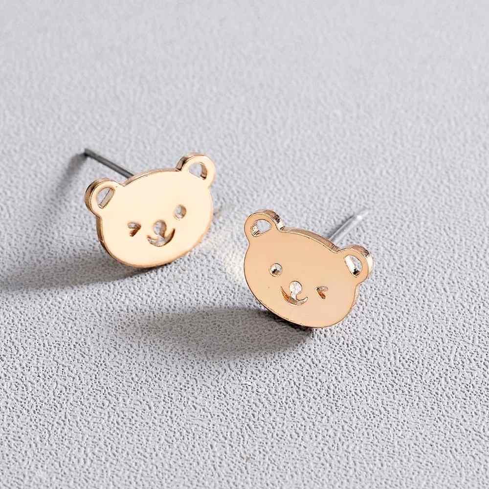 Chandler Милая зверушка мишка серьги для девочек поп яркие серьги гвозди модные ювелирные изделия маленький медведь Pendientes женские свадебные подарки