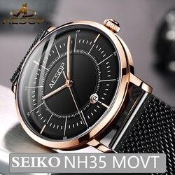 Aesop 2020 Neue mechanische uhren Männer Japan NH35 Bewegung Leucht Automatische herren Uhren Top brand luxus Relogio Masculino