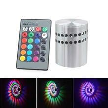 Спиральный алюминиевый светодиодный настенный светильник украшение