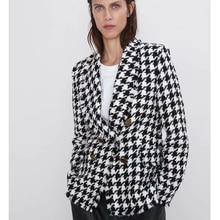 RR, двубортные пиджаки, женские, модные, Хаундстут, повседневные куртки, для женщин, элегантные, с длинным рукавом, костюмы для женщин, для девушек, HT