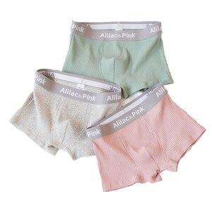Image 2 - 3pcs Men Boxer Underwear Zackwear Cotton Stripe Art Trend Boxers Comfortable Personality Breathable Panties Solid Shorts