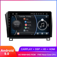"10,2 ""IPS Android 9,0 estéreo de coche para Toyota Tundra 2007 + Sequoia 2008 + Carplay FM Radio WiFi GPS BT 5,0 DSP Audio Video SIN DVD(Hong Kong,China)"