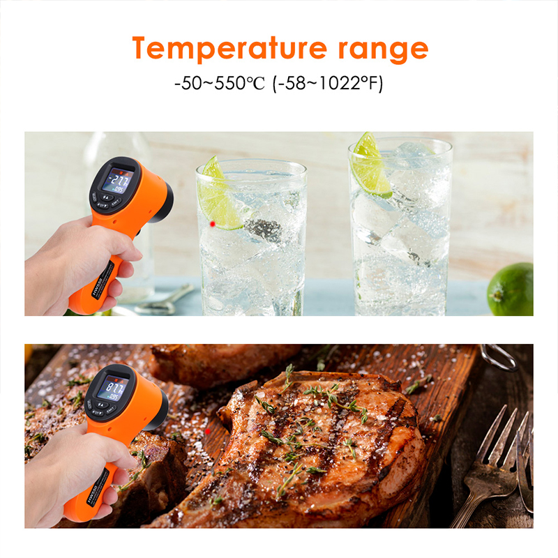 Non Contact Industrial Infrared IR Thermometer Handheld Digital Temperature Measurement SDF SHIP in Temperature Instruments from Tools
