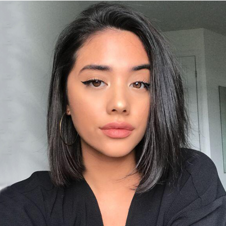 Lace Front Wigs Soft And Silk Straight Hair Short Bob Blunt Cut Human Hair Wig With Baby Hair Pre Plucked Glueless 13x4 Lace Wig