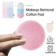 17PCS Makeup Removal Cotton Pad Bamboo Fiber Rounds Reusable Pads Washable Remover Towel Face Cleansing For Women