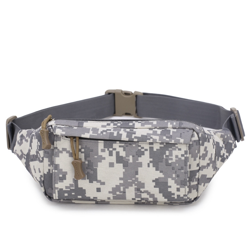 New Men's Casual Waist Packs Fashion Camouflage Fanny Bag Waterproof High Quality Shoulder Bags Travel Phone Belt Bag