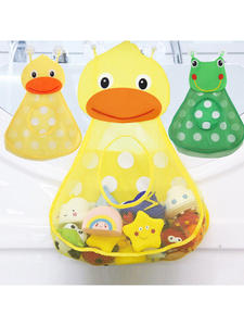 Kids Toy Suction-Cups-Toy-Bag Bath-Toys Storage Bathroom-Organizer Shower Frog Baby Little-Duck