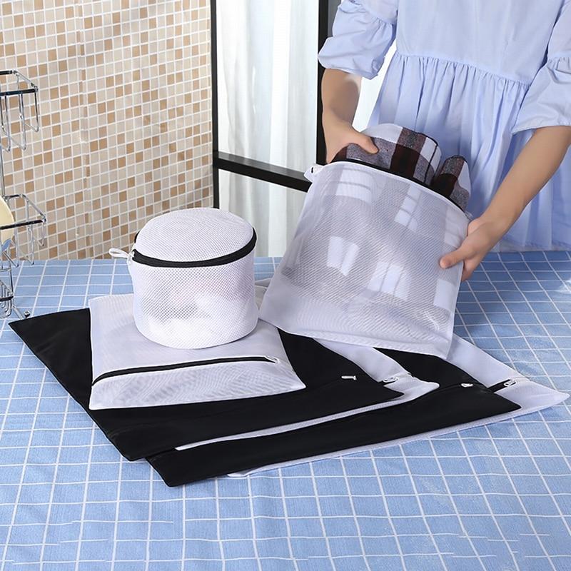 Foldable Lingerie Bra Socks Underwear Washing Machine Bag Zippered Mesh Laundry Wash Bags Effectively Protect Clothing