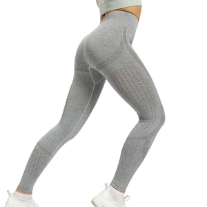 Image 4 - HIFOLK חדש כושר חותלות נשים רשת לנשימה גבוהה מותניים ספורט Legins Femme אימון צועד לדחוף למעלה אלסטי רזה מכנסיים חיל הים
