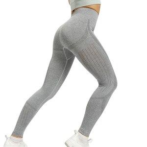 Image 4 - HIFOLK, новинка, леггинсы для фитнеса, женские, сетчатые, дышащие, с высокой талией, спортивные, леггинсы, Femme, для тренировок, леггинсы, пуш ап, эластичные, обтягивающие, темно синие