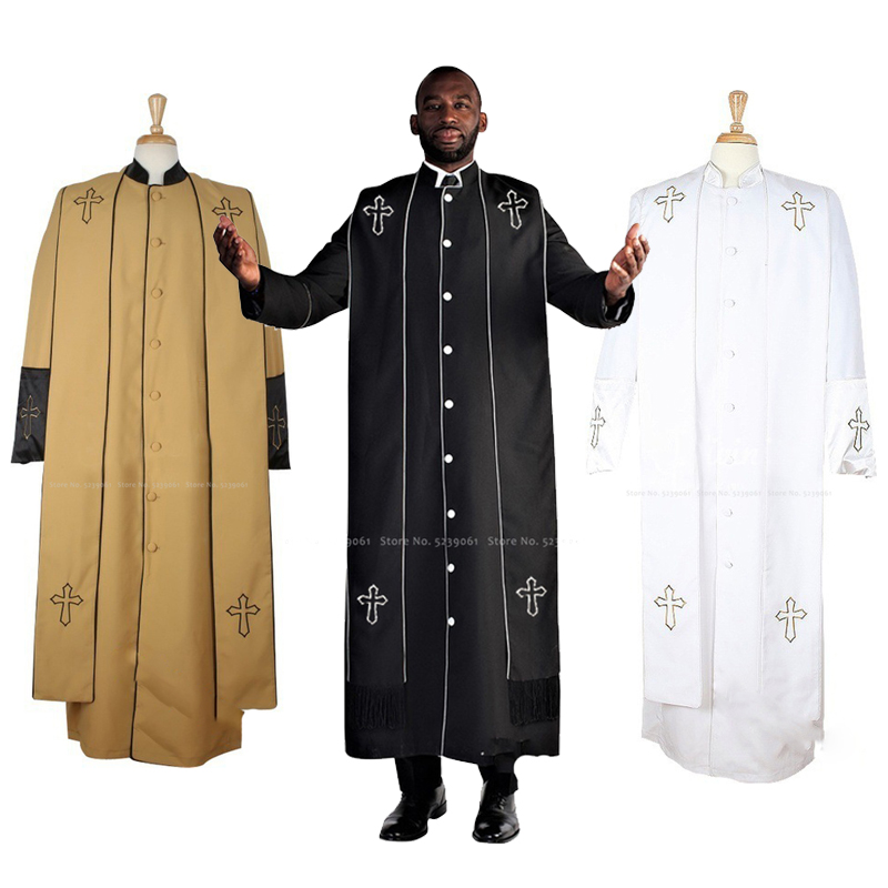 Mens African Clothing Traditional Maxi Dashiki Dress Male Worship Prayer Long Robes Blouse Carnival Priest Monk Cosplay Costumes