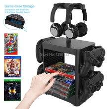PS5 PS4 Nintend מתג משחק אביזרי אחסון מגדל Stackable משחק דיסק מתלה בקר ארגונית עבור Xbox סדרת S