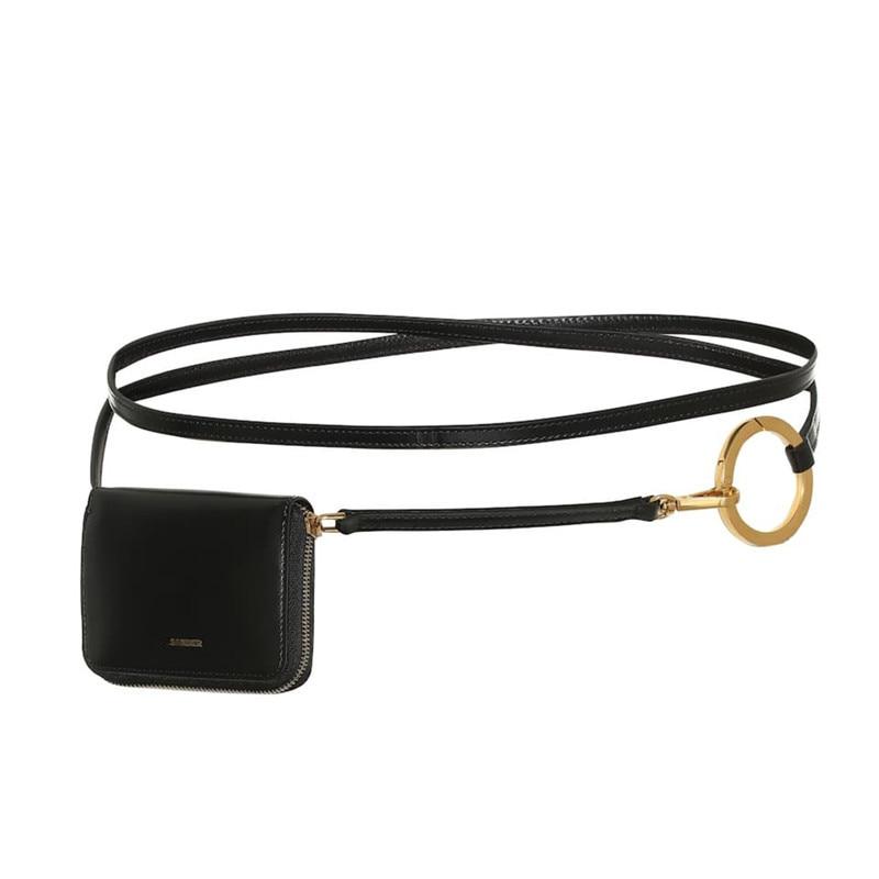 2020 New Design Spring Chain Bags For Women Vintage Black Stylish Trendy Belt Bag Female Messenger Bag Casual Waist Bag ZK821