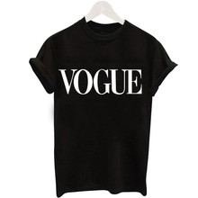 2019 New Women T-Shirts Summer Fashion VOGUE O-Neck T shirt Female Tee