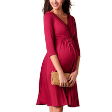 Breastfeeding Dresses Maternity Clothes for Pregnant Women Clothing Solid V-neck Pregnancy Dresses  Mother Wear Evening Dress maternity clothing v neck long evening gowns dresses for pregnant women pregnancy vestidos maternity party prom dress