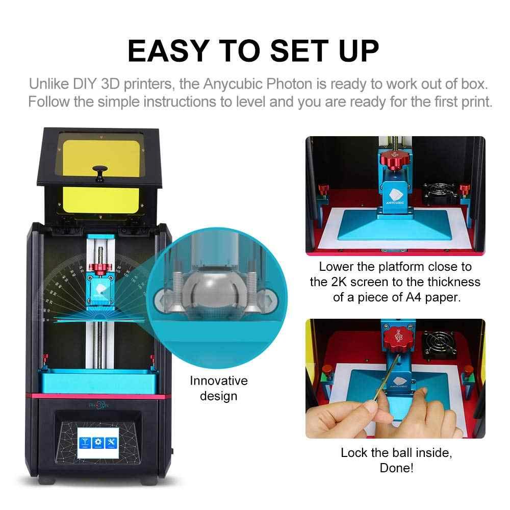 Impresora 3D Anycubic, máquina de lavado y curado de Series de fotones, impresora UV, 2k, Impresión de pantalla LCD, 405nm, impresora 3d de resina UV