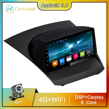 for Ford Fiesta 2009-2017 Car Radio Android 9.0 2 Din 9 Inch Multimedia Stereo Navigation GPS Car DVD Player Bluetooth OKNAVI