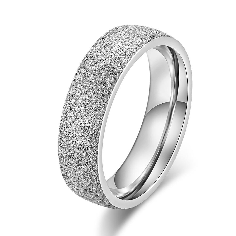 KNOCK Высокое качество модные простые скраб нержавеющая сталь женские кольца 2 мм ширина розовое золото цвет палец подарок для девушки ювелирные изделия - Цвет основного камня: 0000157