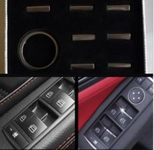 Car window glass lifting switch button decoration sequins For PEUGEOT 307 308 408 508 2008 3008 car sticker car interior