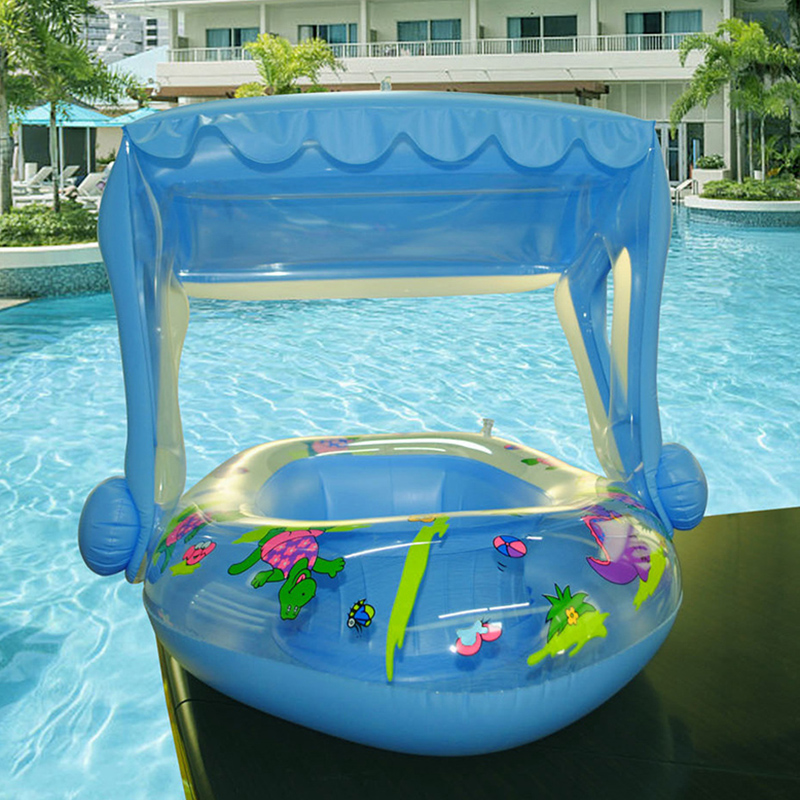 New Baby Pool Float Toys Inflatable Water Swimming Ring Dinosaur Pontoon Baby Boat  Swimming Ring Children Inflatable Toys Gifts