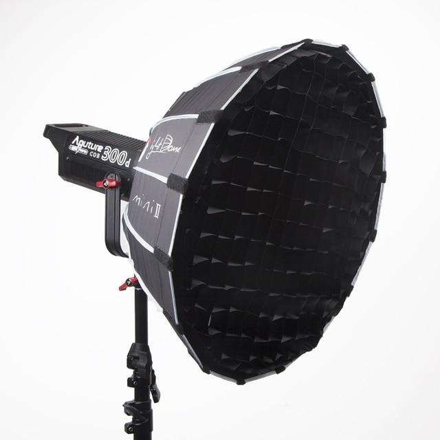 Aputure אור כיפת מיני השני רך box פלאש מפזר עבור אור סערת 120 וcob 300 סדרת Bowens הר LED אורות