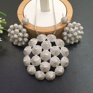 Image 2 - Lanyika Jewelry Artistic Distinctive Scallop Balls Plated Necklace with Earrings Banquet Popular Best Gifts