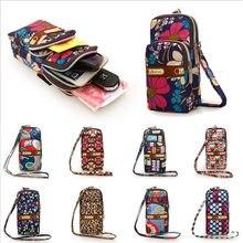 Monedero pequeño multicolor para mujer, bolso de hombro para teléfono móvil, 9 colores