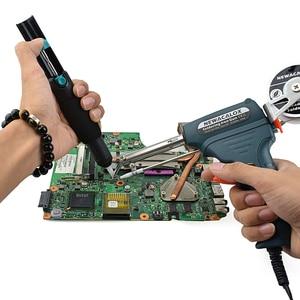 Image 5 - Newacalox 220v 60w ue enviar automático pistola de lata estação retrabalho ferro solda elétrica bomba desoldering ferramenta solda fio