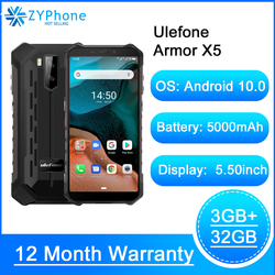 Водонепроницаемый смартфон Ulefone Armor X5, Android 10, восемь ядер, NFC, IP68, 3 ГБ + 32 ГБ, 5000 мАч, 4G LTE