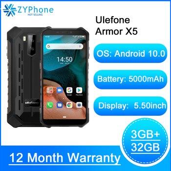 Перейти на Алиэкспресс и купить Водонепроницаемый смартфон Ulefone Armor X5, Android 10, восемь ядер, NFC, IP68, 3 ГБ + 32 ГБ, 5000 мАч, 4G LTE