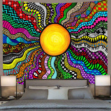 Tapestry Psychedelic Wall-Hanging Bedroom Living-Room Home-Dorm-Decor Sun-And-Moon Simsant