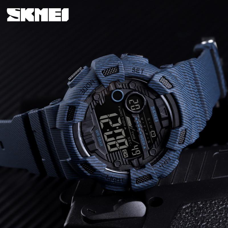 2019 SKMEI Sport Watch Men Fashion Digital Wristwatches Mens Week Date Stopwatch Relogio Digital 2Time Countdown Montre Homme