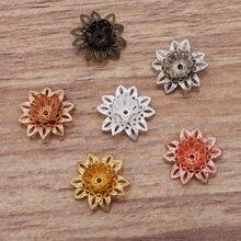 20 шт16 мм бусины шапки Шарм лотоса ожерелья подвеска для браслета