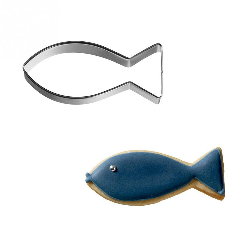 Fish Shape Metal Mold Fondant Cupcake Cake Decorating Cookie Cutter Biscuit Baking Tools Handmade Soap Chocolate Mold Fish Fork