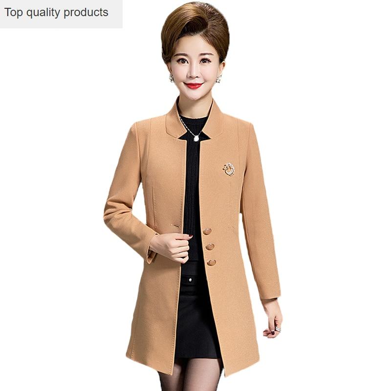 2020 Spring Autumn Women A-line   Trench   Coat Single Breasted Slim Mid-Long Coat Female Plus Size jaqueta feminina YR135