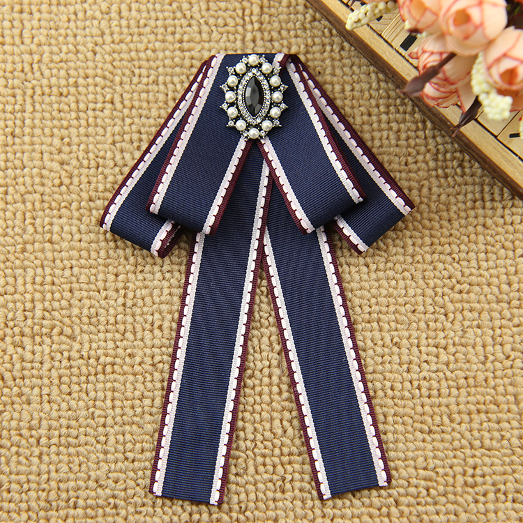 I-Remiel Vintage School Bow Tie Ribbon British Style Bowtie For Women's Shirt Dress Blouse Fashion Collar Clothing Accessories