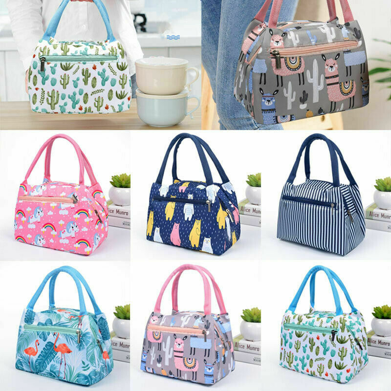 Lunch Bag Cooler Tote Portable Insulated Box Canvas Thermal Cold Food Container School Picnic For Men Women Kids Travel Lunchbox